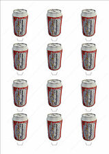 Novelty Budweiser Can Stand Up Fairy Cake Cupcake Topper Edible Wafer Birthday