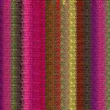 NORO ::Kureyon #374:: wool knitting yarn Fuchsia-Browns-Pea-Green-Purple