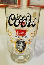 Vintage Coors Banquet Large Beer Glass 32 oz Collectors Colorado Rocky Mtn