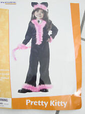 Halloween Costume Toddler Girls size M 3-4 Pretty Kitty USA Furry California Cos