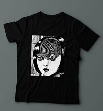 UZUMAKI Eyeball Shirt Junji Ito Horror Manga Anime Cult Evangelion Mens T-Shirt