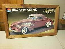 AMT/ERTL 1937 Cord 812 S/C A Classic Masterpiece FRAMED PICTURE MADE FROM BOX