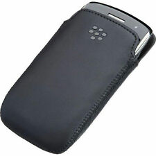 Official BlackBerry Curve 9370 9360 9350 cuir poche case ACC-39404-201 noir