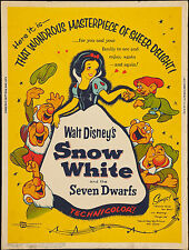 SNOW WHITE LAMINATED MINI MOVIE POSTER no6 DISNEY