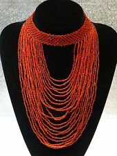 red beads statement choker necklace Kenya African