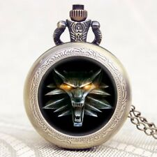 Hot Game of Thrones Awesome Roaring Lion Pattern Pocket Watch Chain Pendant Gift