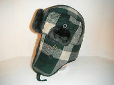 Woolrich mens tartan Trapper bomber Cap Hat lined LARGE New