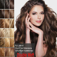 """7Pcs 16""""18""""20""""22""""24""""26""""30"""" Full Head Clip In Remy 100% Real Human Hair Extension"""