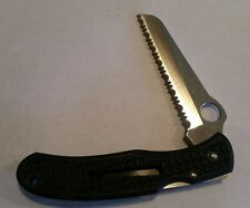 Spyderco Seki-City Japan G-2 Rescue Serrated Knife - Excellent w upgraded clip
