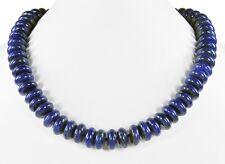 Wunderschöne Halskette aus Lapislazuli in Buttonform