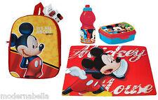 Topolino Mickey Mouse  zaino zainetto 3D,asilo,scuola,set merenda