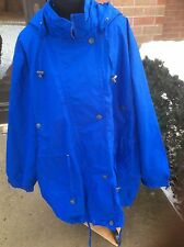 NEW WOMAN WITHIN PLUS SIZE ANORAK COAT JACKET ZIP OUT FLEECE LINING  BLUE 3X
