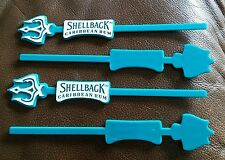 PLASTIC DRINK STIRRERS Set Of 4 New Shellback Caribbean Rum