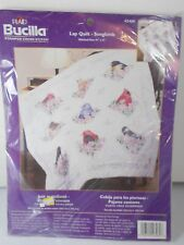 Bucilla Songbirds Lap Quilt Kit Stamped Cross Stitch NEW Sealed 41 inch