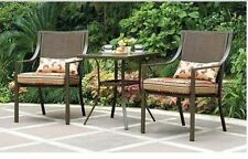 Outdoor Bistro Set 3-Piece Patio Chairs Table Furniture Garden Seat Backyard NEW