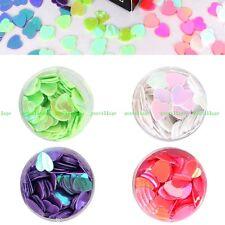 4pcs/set Nail Art Glitter Heart Shape Paillettes Sequins DIY Manicure 5mm 4Color