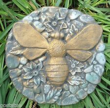 """plastic small pebbled bee mold plaster mold concrete mold 8"""" x 1/2"""" thick"""
