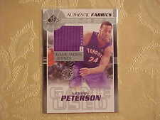 2003-04 Upper Deck Morris Peterson Game Used Jersey Basketball Card Jersey #H228