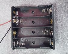 Plastic 4 x AA Battery Box with Cable