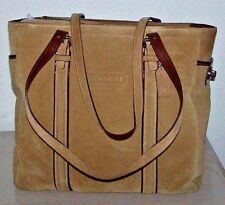 Coach Suede Tan LG Gallery Book Tote Bag Purse EUC VERY RARE $398 MSRP