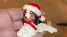 New Dog Santa Hat Christmas Ornament Stocking Stuffer COCKER SPANIEL  Rare