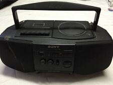 Sony CFD-V10 CD Radio Cassette Player Recorder Boom Box Stereo Works