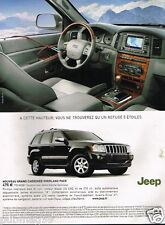 Publicité advertising 2006 Grand Cherokee Overland pack Jeep 4X4