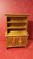 Dollhouse Miniature Kitchen Hutch Cabinet Walnut 1:12 scale F64 Dollys Gallery