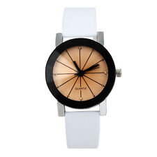 Fashion Women Watch Stainless Steel Quartz Analog Dial Leather Wrist Watch Fast