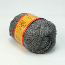 50g Comfortable Gray Worsted Fiber Wool Cashmere Soft Hand Knitting Yarn New