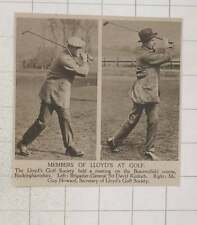 1920 Lloyds Golf Society Sir David Kinloch Mr Guy Howard