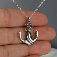 Anchor Necklace - 925 Sterling Silver - Pendant Nautical Anchors Boat Ocean NEW