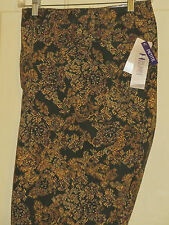 CATHERINES STRAIGHT LEG PANT BROWNS SECRET SLIMMER CLASSIC PANT 30WP PETITE NWT