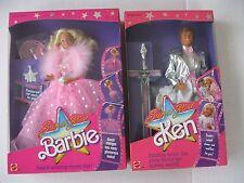 Mattel Superstar Barbie Doll Movie Star & Superstar Ken Dolls 1988 Lot of 2 NRFB