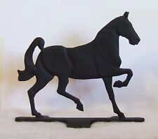 Cast Iron Black Race Horse Door Stop Fence Figure 2 Sided