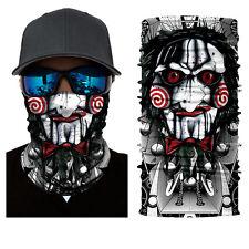 Funny Twisty Jester Joker Face Shield Sun Mask Motorcycle Neck Gaiter Balaclava
