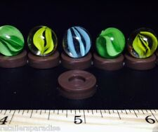 1940'S! NEW LOT OF 24 VINTAGE OLD ANTIQUE RARE MARBLE HOLDERS/STANDS FOR MARBLES