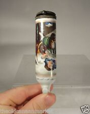 Antique Porcelain Tobacco Pipe St Bernard German Austrian Painting Tobacciana