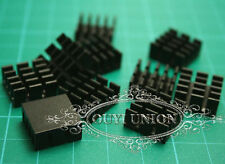 100pc x 14*14*7mm Mini Black Aluminum Heat Sink Chip for LED IC Power Transistor