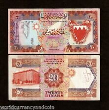 BAHRAIN 20 DINARS P11A 1973 REPLACEMENT #99 BOAT MOSQUE GULF CURRENCY MONEY NOTE