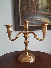 Vintage Brass BMF Nagel Fabrique W. Germany 3 Arm Candle Holder Candelabra GIFT!