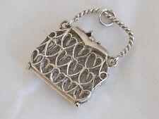 TRADITIONAL DESIGN UK 925 STERLING SILVER CLOTHING HANDBAG TRADITIONAL CHARM