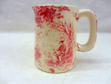 pink toile de jouy mini cream jug pitcher jug by Heron Cross Pottery