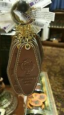 Disney Hollywood Tower Of Terror Hotel HTH Leather Room Key Keychain NEW W TAG