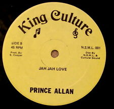 "PRINCE ALLAN Jah Jah Love ORIGINAL EX+ KING CULTURE 12"" LISTEN"