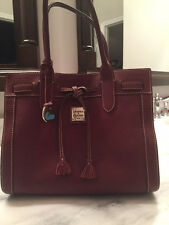 Dooney Bourke Cordovan Pebble Leather Handbag Footed Bottom