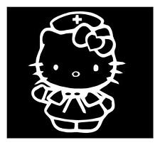HELLO KITTY NURSE 6X5 STETHOSCOPE SCRUBS RN LPN CCN LOCKER WALL DECAL STICKER