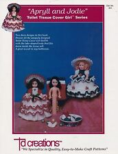 Apryll and Jodie, Td Creations Crochet Toilet Tissue Doll Clothes Pattern 851