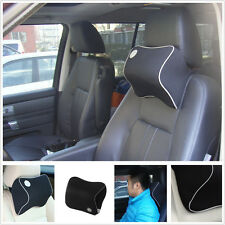 Large Soft Travel Neck Pillow Memory Foam Car SUV Truck Head Rest Support Black