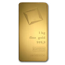 Kilo gram Gold Bar - Valcambi (Pressed w/Assay) - SKU #85613